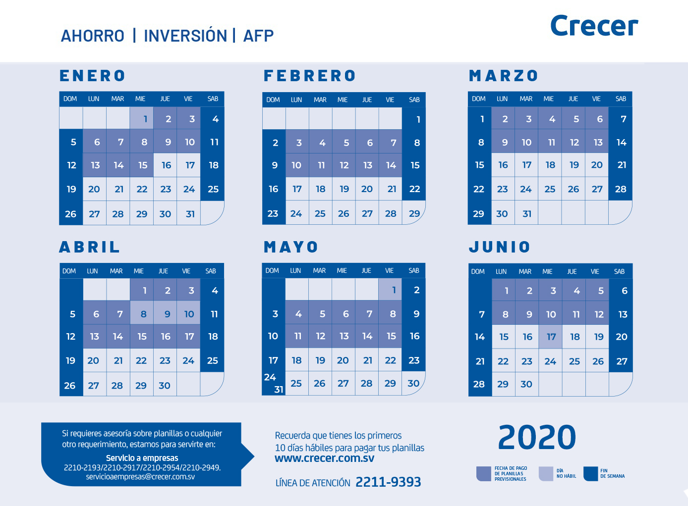 AF - CALENDARIO 2020 - TRIPTICO